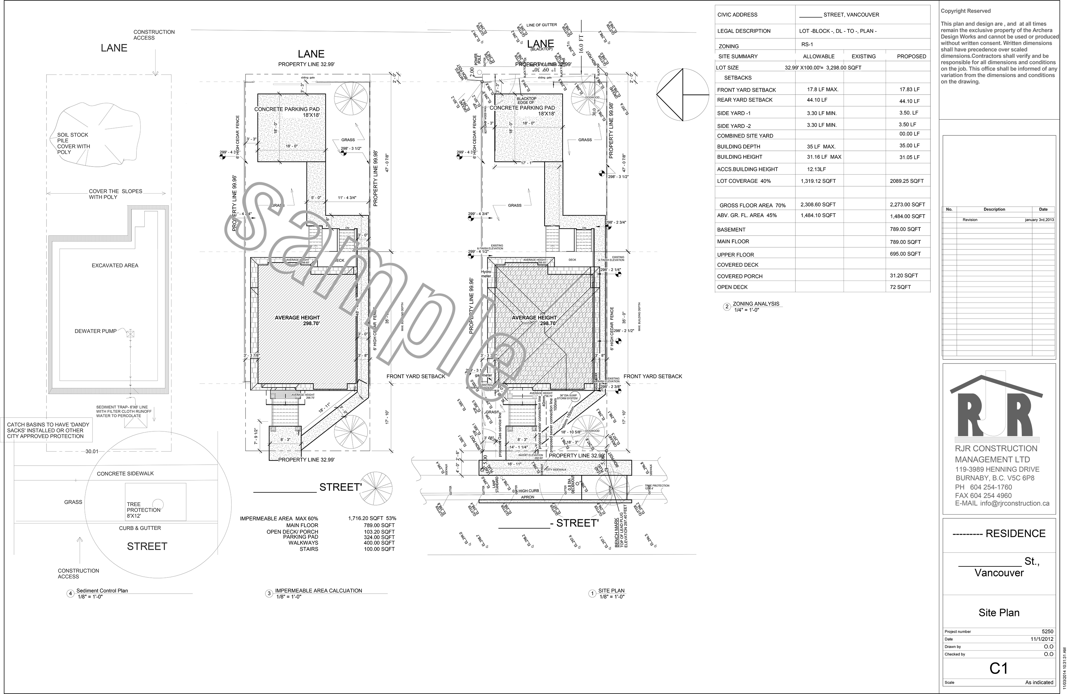 sample drawings - rjr construction group